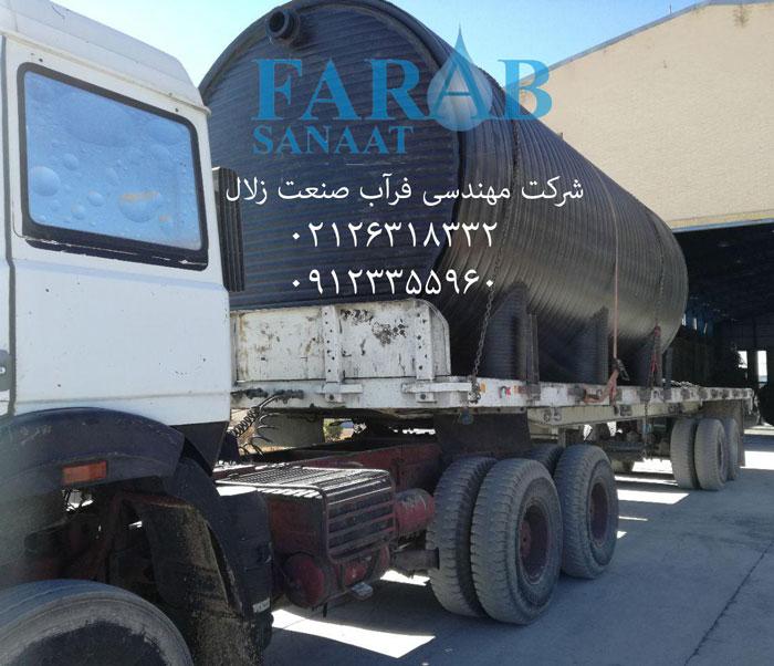 سپتیک تانک به سفارش شرکت شتابان شمال - کاله آمل