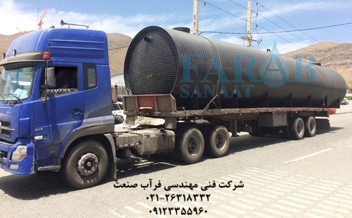 سپتیک تانک پلی اتیلن ۷۵ متر مکعب